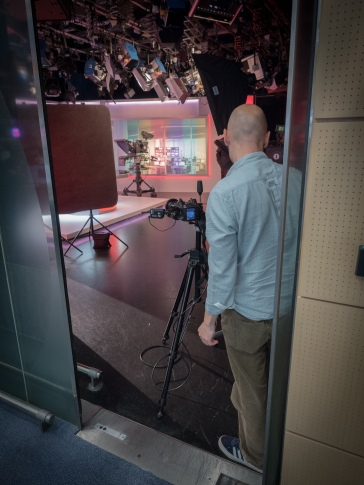The door to BBC Birmingham's Midlands Today news studio